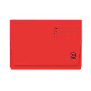 Paquete 25 subcarpetas bolsillo gio pocket folio rojo