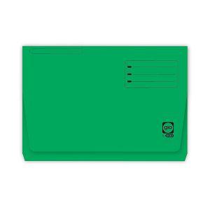 Paquete 25 subcarpetas bolsillo gio pocket folio verde