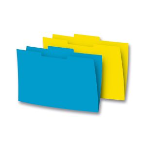 Subcarpetas Gio Pestaña central Folio Amarillo caña Pack 50u.